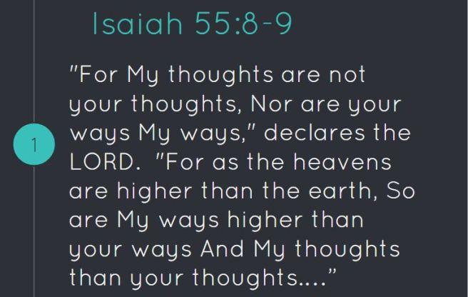 Isaiah 55 8 9